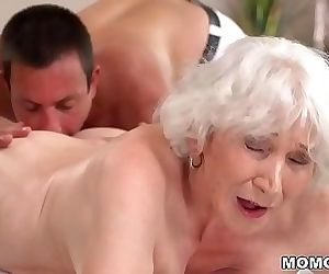 Old mom Norma enjoys sex after..