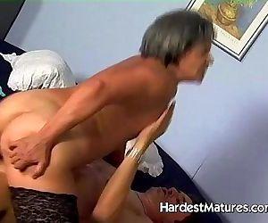 vast hairy granny snatch fucked -..