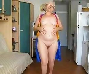 65 Yr. Old Granny Hamming It Up..