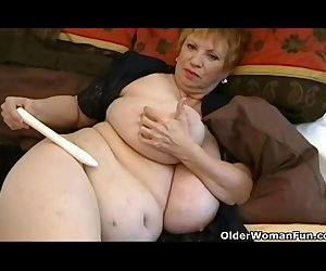 Fat granny with..