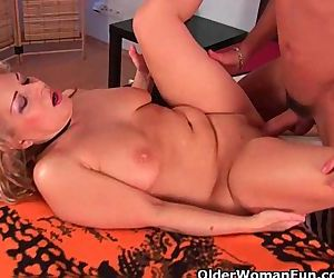 Grandma in lust gets fucked by..