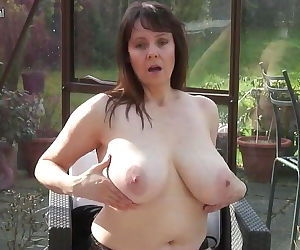 Amateur granny with big tits and..