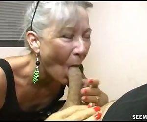 Slutty Granny Blowjob - 4 min