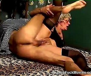 Hairy Granny Snatch Dicked - 7 min