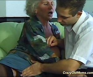 busty crazy old mom needs only..