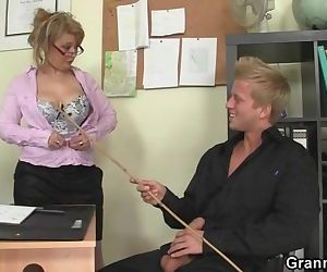 Hot office sex with old mature..