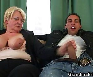 Two buddies bang old whore - 6 min