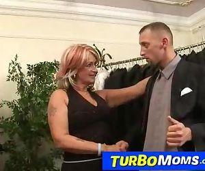 Hungarian grandma Judit has sex..