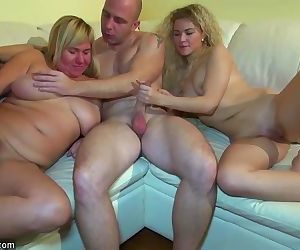 Young girl fucking in threesome..