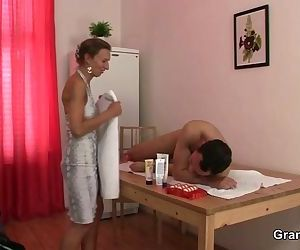 Massage leads to cock sucking and..