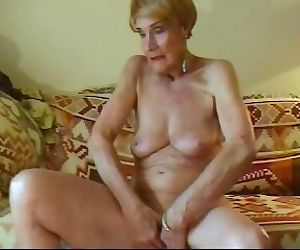 Olga Is 74 And Loves To Finger..