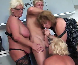 Young boy fucks 3 sexy MOM mom..
