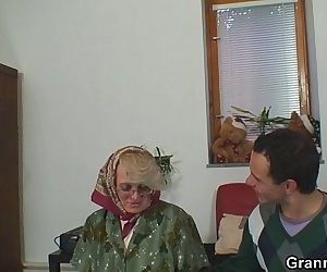 Old women gets her..