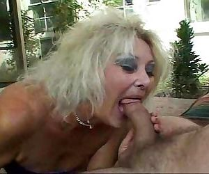 Granny sucking and slurping on..