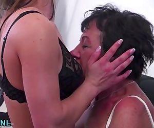 Granny licking..