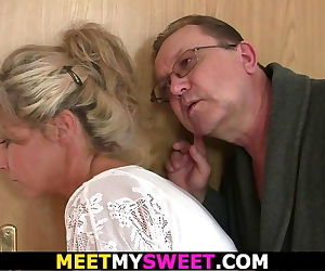 Old mom and dad tricks girl into..