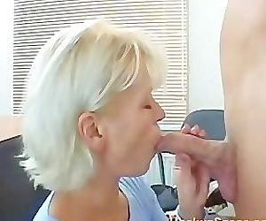 Skinny Blonde Pretty Mature Mom..