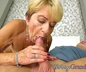 Chubby grandma jizzed on 6 min 720p