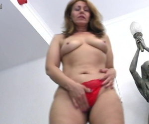 Dirty housewife MOM getting wet..