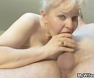 She sucks and fucks her son in law
