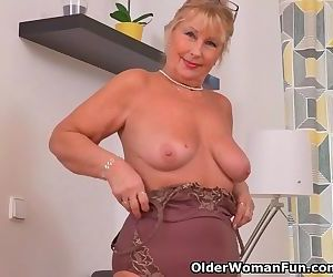 Euro granny Gigi needs to rub one..