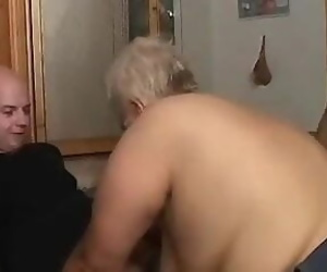 Granny with young guys 3