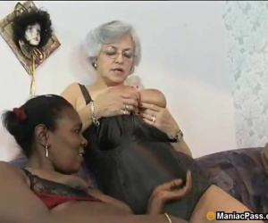 Interracial mature group orgy