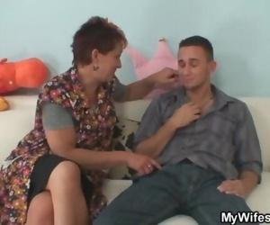 Granny Seduces her..