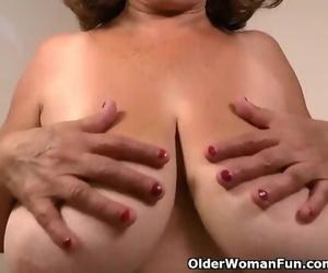 Silky Nylon Gets Granny Brenda in..