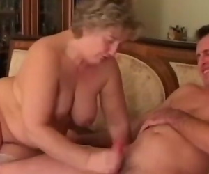 BBW Granny Enjoys Younger Cock..