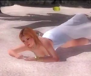 Dead or alive 5 Tina blonde MILF in see through dress let..