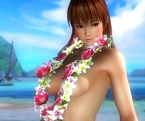 Dead or alive 5 sexy girls in micro bikini thong 3D..