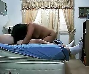 Chinese wife fucks fat husband