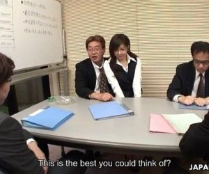 Lady Shino gets to suck off some cocks at the meeting - 58..