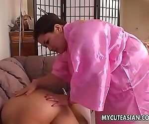 Two sultry sluts sucking and blowing a fat dick with..