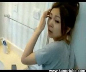 Chinese couple recording in the restroom -..
