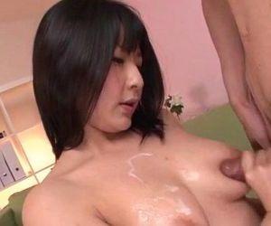 Megumi Haruka busty beauty adores sucking cock - 12 min