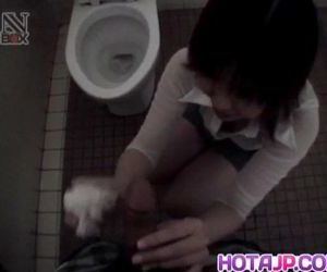 Shiori Kamiya sucks cock at toilet - 10 min