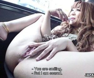 Delicious Japanese gal masturbating in a car - 7 min HD
