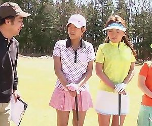 Asian teen girls plays golf nude 7 min HD