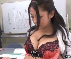 Suzuki getting fucked during the presentation - 57 sec