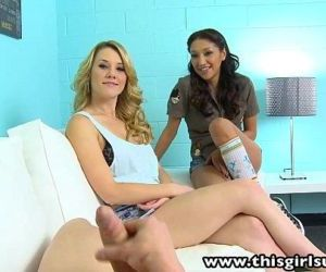 ThisGirlSucks Sierra Day Vicki threesome blowjob handjob -..