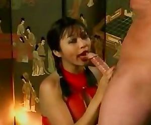 Asian girl loves sucking cock