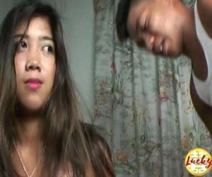 Pretty slim tiny titted asian teen convinced to great sex..