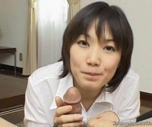 Alluring And Kinky Japanese Cutie Giving Head Seductively..
