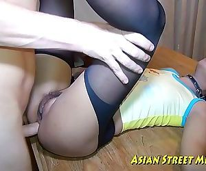 Asian Woman Dribbles Semen After Anal Intercourse 10 min HD+