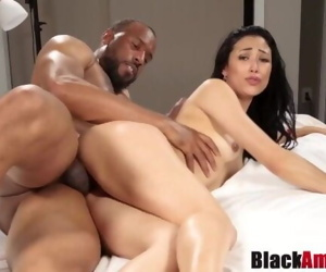 Curvy Asian Mia tricked into hard BBC riding 1st time