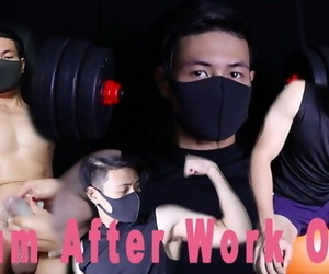 HOT!!!Straight Guy CUM EXPLOSION after Workout..