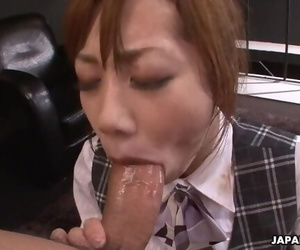 Slutty Japanese Secretary Enjoys a Rough Threesome in the..