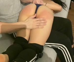 Hot Asian Teen Spanked for the first Time